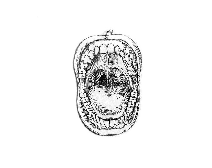 MOUTH Small Pendant Necklace Gifts for her