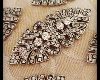 Art deco rhinestone brooch crystal brooch , wedding brooch, bridal shoe-clips, art deco brooch