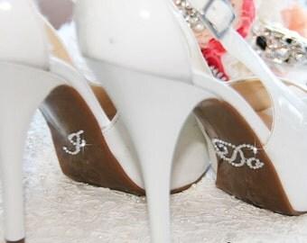 I DO stickers for bridal shoes, I Do wedding shoe stickers