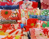 Vintage Kimono Fabric Lucky Dip Pack - Small Pieces 450grams