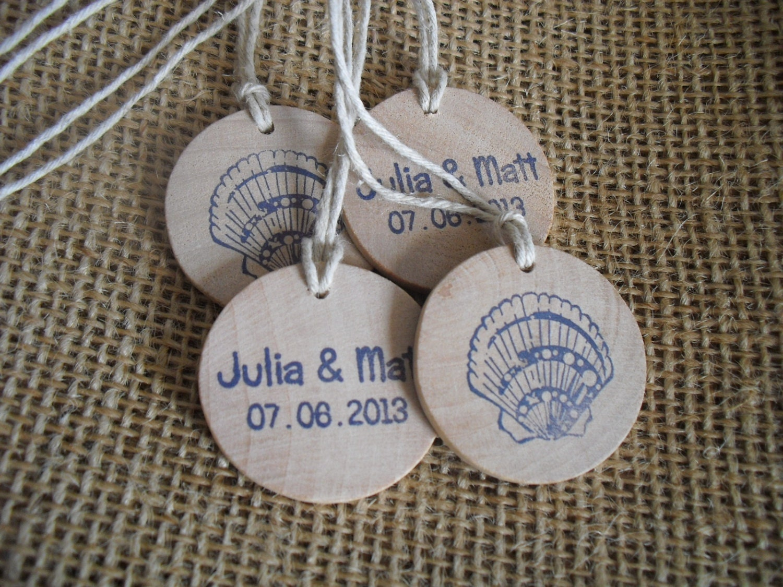 Wedding Favor Tags Beach : Beach Seashell Wedding Favor Tags by dazzlingexpressions on Etsy