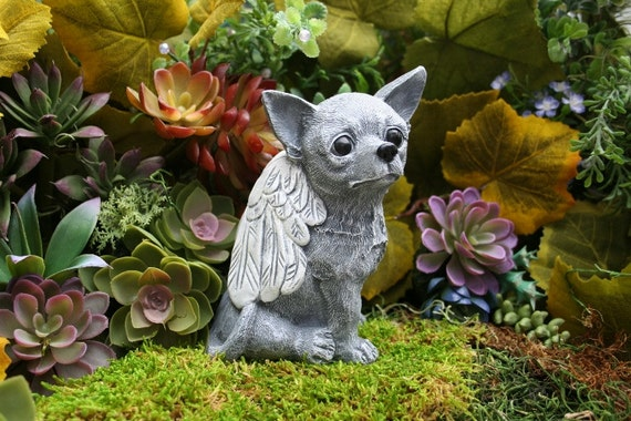 Chihuahua Angel Dog Statue Sweet Big Ears Big Eyes a