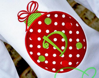 Holiday Ornament Applique T-Shirt by Elegant Embroidery Designs