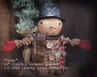 Instant Download Primitive Jimmy Snowman Epattern