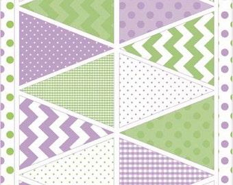 Riley Blake Designs Holiday Banners - Easter Purple (P560-Purple) - 1 panel