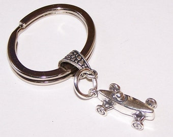 Sterling SOAP BOX DERBY Key Ring, Key Chain - 3-Dimensional - Scouts