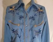 Vintage Embroidered Western Shirt SALE