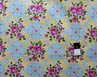 Jennifer Paganelli PWJP073 Circa Austin Blue Cotton Fabric 1 Yard