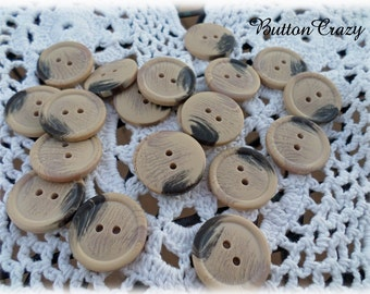 20 WOOD LOOK BUTTONS