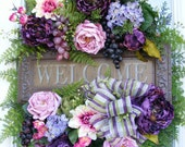 Spring Wreath, Spring door wreath, Summer Wreath, Spring wreaths, Luxury Wreaths, Designer wreaths, Petal Pusher's Wreaths, Welcome Wreath