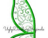 Tinkerbell Fairy Wing  Machine Embroidery Applique Design Digital Download