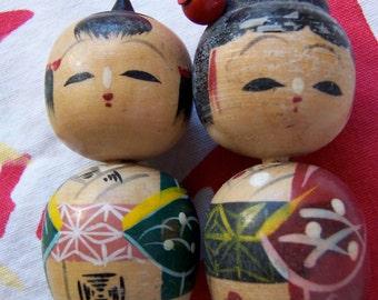 little wooden painted dolls