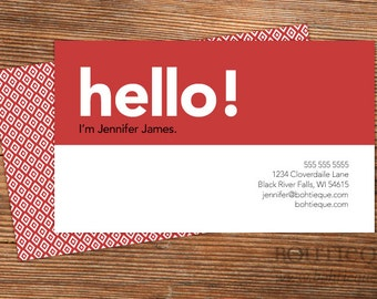 Consultant business cards, calling cards for business branding with color choices