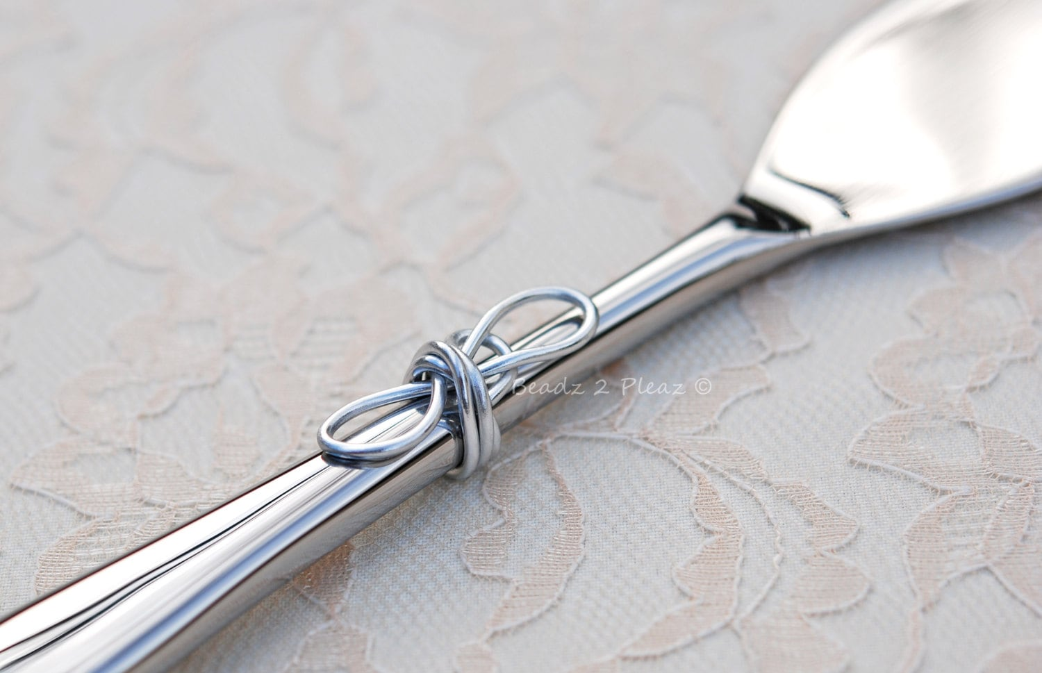 INFINITY KNOT Wedding Cake Cutter Tying The Knot Cake Knife