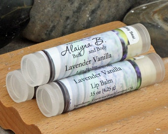 Lavender Vanilla Lip Balm with Cocoa Butter