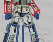 Transformers Opitmus Prime without Gun Applique, Embroidery Design includes free Logo embroidery This is NOT A PATCH