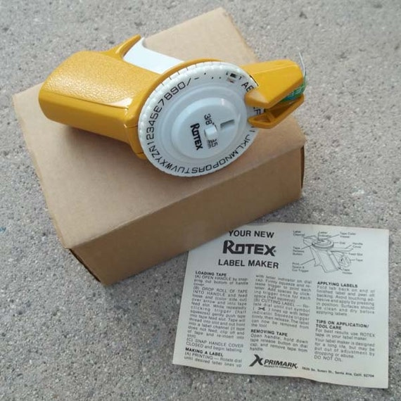 rotex label maker instructions