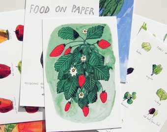 Food on Paper postcard pack