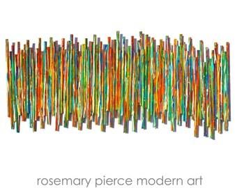 Modern Abstract Painted Wall Sculpture | Life Experience no9 | Custom Art | Original 3D Wall Art | by Rosemary Pierce Modern Art