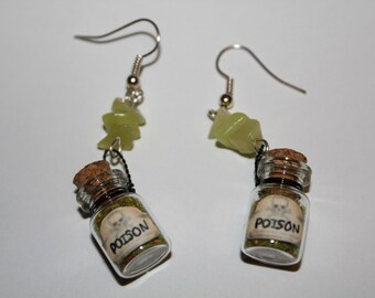 Poison Bottle Apothecary Earrings