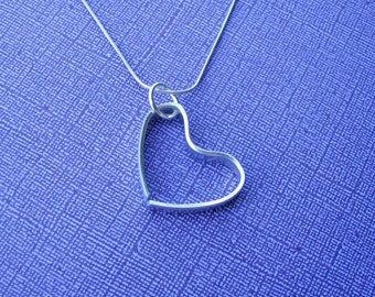personalized hand-formed heart necklace - hand stamped with your custom text