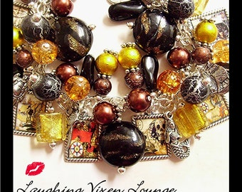 Pirate Bracelet - Skulls, Maps and Ships - Pirate Jewelry - Pirate Charm Bracelet