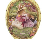 Made In Germany Papier Paper Mache Easter Egg Box  4.5 Inch Holly Pond Hill  #807 S