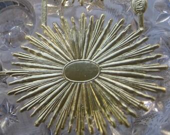 Dresden Trim Angel Halos In Gold 4 Die Cut Made In Germany