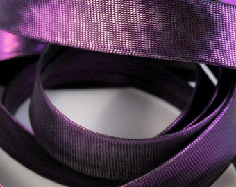 Czech Republic 5 Yards Metallic Bias Binding Tape 15mm  Grape Purple