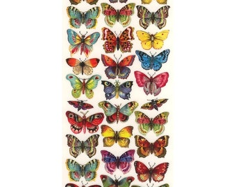 Self Adhesive Butterfly Stickers 1 Sheet Colorful Scrapbooking Stickers  Number 60