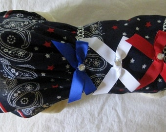 XS Patriotic Pet Dress New