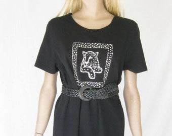 Vintage 80s Cheetah Print Boho Maxi Dress