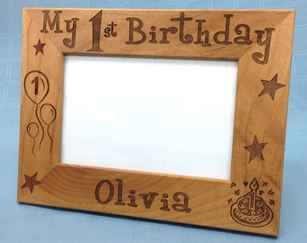 Custom Birthday Picture Frame,Personalized Picture Frame,Birthday Picture Frame,5x7 Frame
