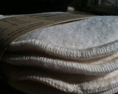 Regular Absorbency Nursing Pads Made With Unbleached Organic Cotton Fleece and Flannel - 2 pairs Plus Wash Bag