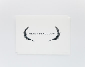 Merci Beaucoup Thank You Cards Set of 4