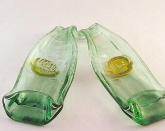 Mackinac Island 100 anniversary coke bottle - Melted COKE bottle spoonrest or dish - Michigan Coke bottle - Commemorative bottle