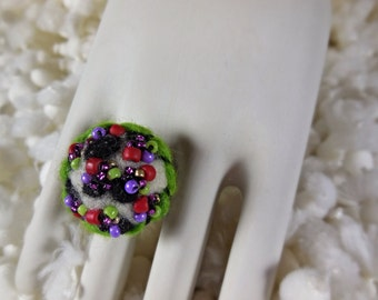 Felted Ring, Confetti