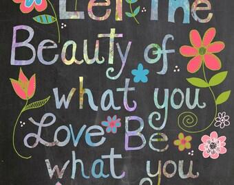 Rumi Quote Chalkboard Print
