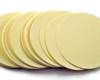3 Inch Paper Die Cuts     Three Inch Circles   in  Sweet Cream Quantity 25
