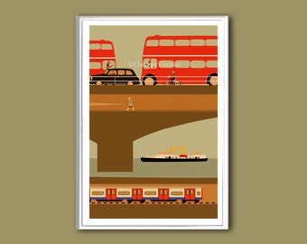 London Bridge print in various sizes