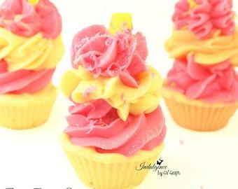 Pink Berry Mimosa Mini Handmade Artisan Soap Cupcake