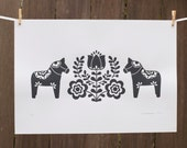 Scandinavian inspired Hand Screen Print in Grey