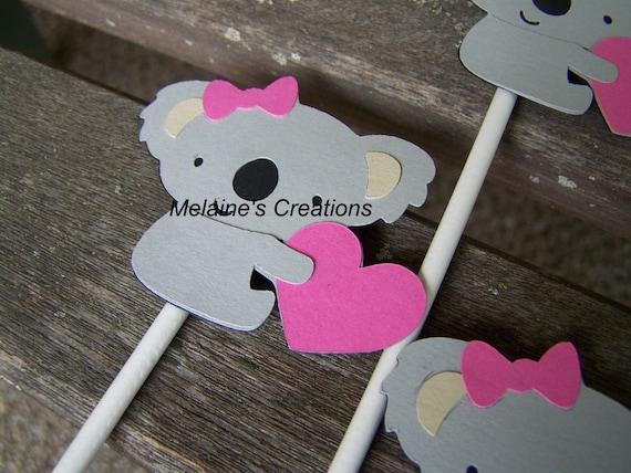 Cupcakes de Koala Koala Bear Cupcake Toppers Set
