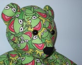 Kermit Frog Teddy Bear Cuddle Buddy Green Goodness Child Lovey
