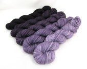 Gradient Yarn Kit, Hand Dyed Merino Wool, Pebble Sock - Kir