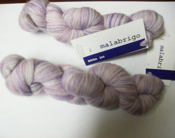 Baby Merino Wool Yarn Malabrigo Lace Brisa Lot of 2 Skeins Purple
