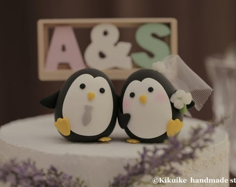 Penguins wedding cake topper (K411)
