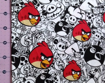 Angry Birds Red Fabric By The Yard FBTY
