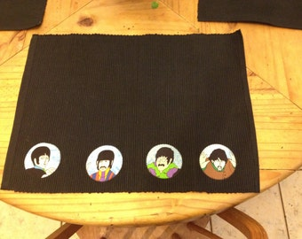 Custom Made Beatles Placemats (not a licensed product)
