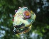 Handmade Glass Focal Two-Sided Focal Bead
